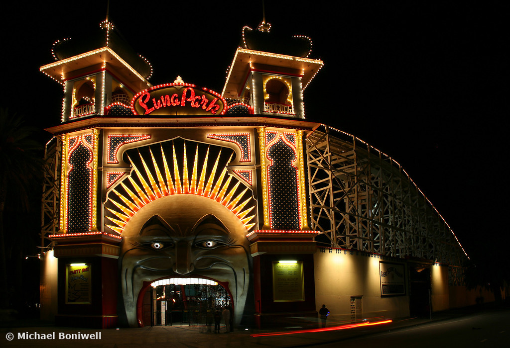 Luna Park By Night, Melbourne, Victoria, Australia