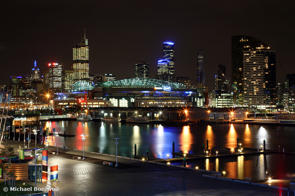 Docklands By Night, Melbourne, Victoria, Australia