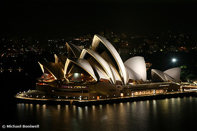 Opera House at Night, Sydney, New South Wales, Australia