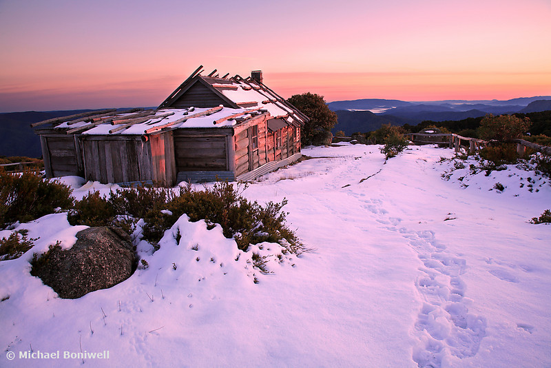 Winter Sunrise, Craigs Hut, Mt Stirling, Victoria, Australia