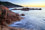 Sleepy Bay Sunrise, Freycinet Peninsula, Tasmania, Australia