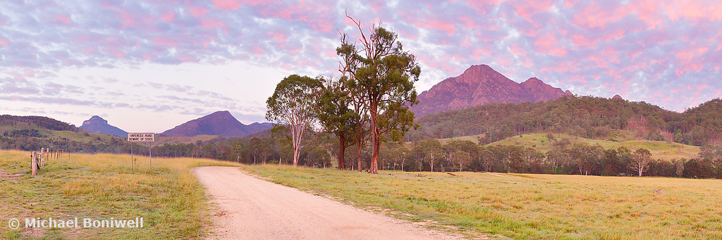 Rosey Dawn over Mt Barney, South-East Queensland, Australia