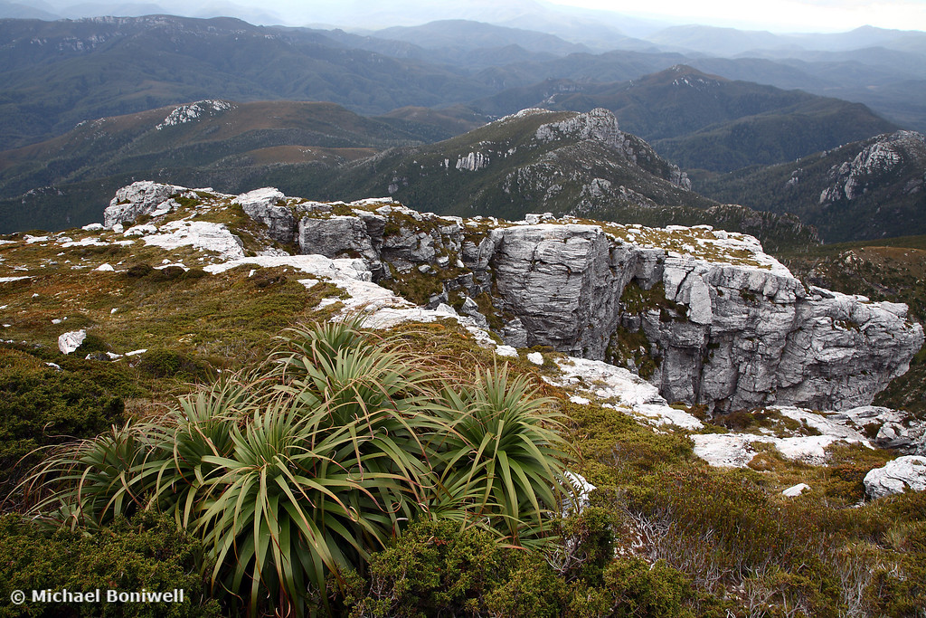 View from Frenchmans Cap, Franklin-Gordon Wild Rivers National Park, Tasmania