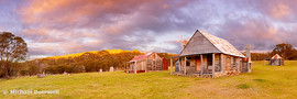 Coolamine Homestead Sunset, Kosciuszko National Park, New South Wales, Australia
