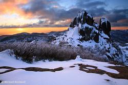 Winter Sunset, The Cathedral, Mt Buffalo, Victoria, Australia
