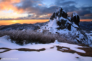 Winter Sunset, The Cathedral, Mt Buffalo, Victoria, Australia
