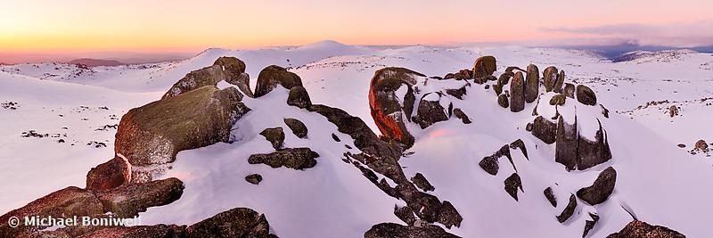 Summit from North Rams Head, Mt Kosciuszko, New South Wales, Australia