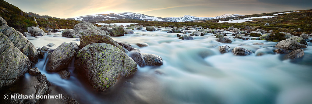Snowy River Sunset, Mt Kosciuszko, New South Wales, Australia