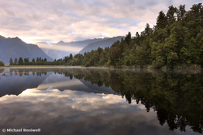 Lake Matheson Dawn, West Coast, South Island, New Zealand