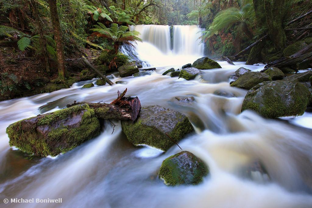 Flooded Horseshoe Falls, Mt Field National Park, Tasmania, Australia