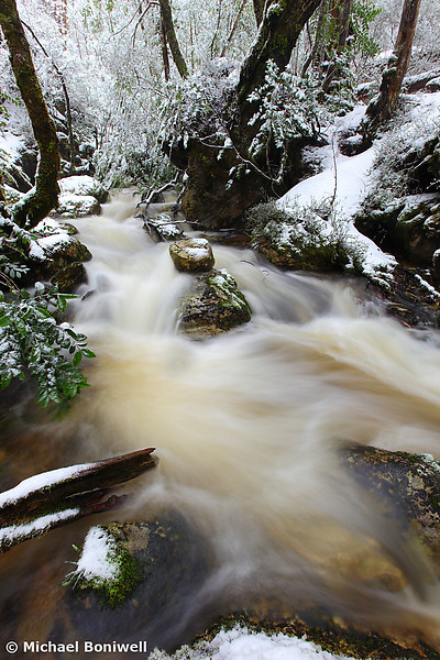Winter at Crator Creek, Cradle Mountain National Park, Tasmania, Australia