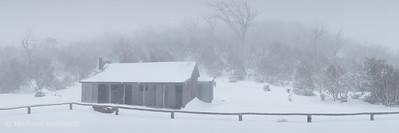 Snow Storm, Bluff Hut, Alpine National Park, Victoria, Australia