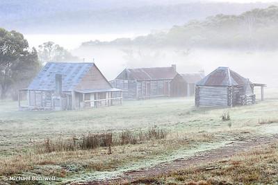 Coolamine Homestead Mist, Kosciuszko National Park, New South Wales, Australia