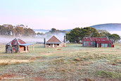 Coolamine Homestead Dawn, Kosciuszko National Park, New South Wales, Australia