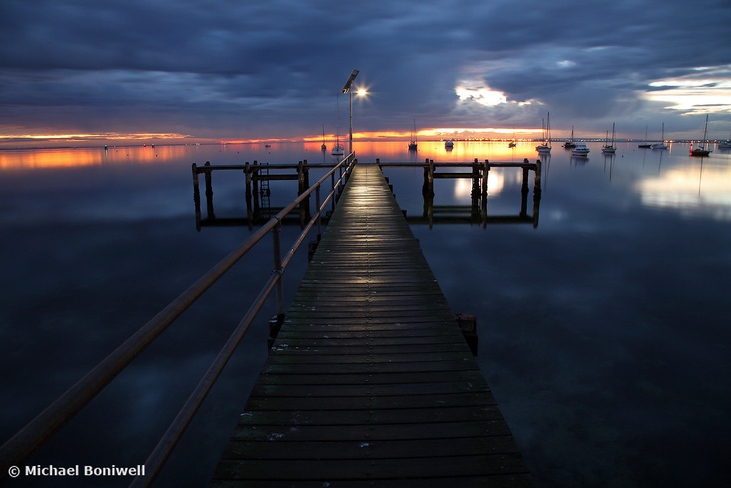 Winter's Dawn on the Pier, Geelong, Victoria, Australia