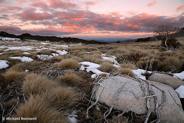 Falls Creek Winter Sunset, Victoria, Australia