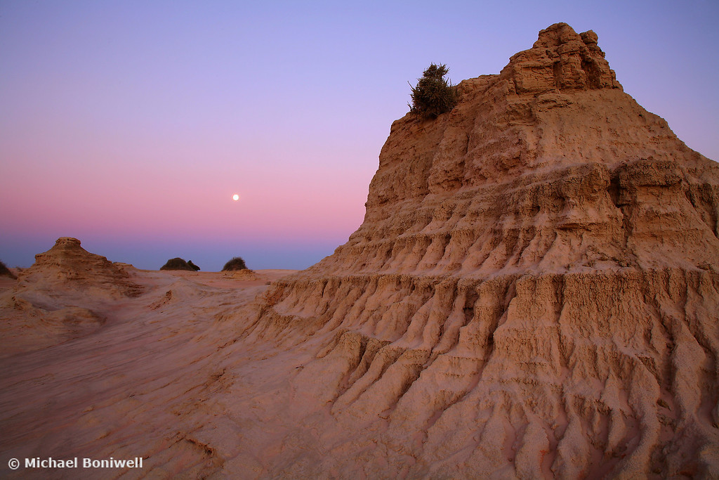 Walls Of China Moonrise, Mungo National Park, New South Wales, Australia