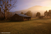 Misty Dawn over Geehi Hut, Kosciuszko Nat. Park, Australia