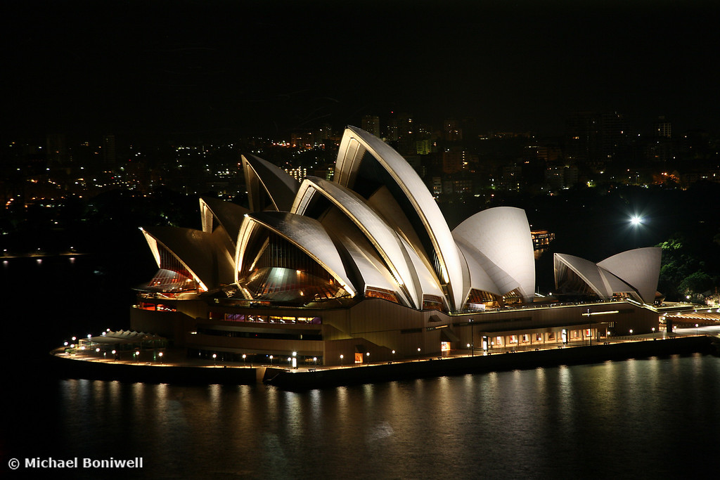 Opera House at Night, Sydney, New South Wales, Australia