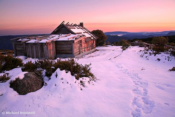 Winter Sunrise, Craigs Hut, Mt Stirling, Victoria, Australia