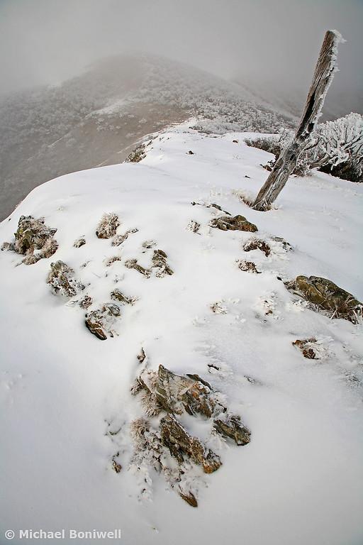 Winter on the Razorback, Mt Feathertop, Victoria, Australia