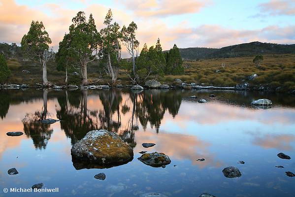 Tarn Reflections, Cradle Mountain National Park, Tasmania, Australia