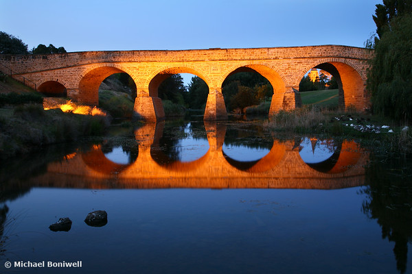 Richmond Bridge Nightime, Tasmania, Australia