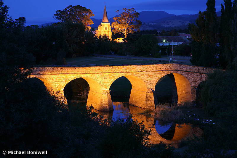 Richmond Bridge and Chruch, Tasmania, Australia