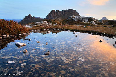 Cradle Mountain Tarn Sunset, Tasmania, Australia