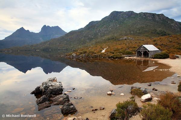 Boat Shed, Dove Lake, Cradle Mountain Nat. Park, Tasmania