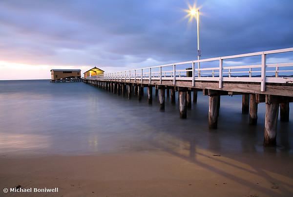Queenscliff Pier Autumn Dawn, Victoria, Australia