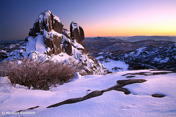 Winter Dawn, The Cathedral, Mt Buffalo, Victoria, Australia