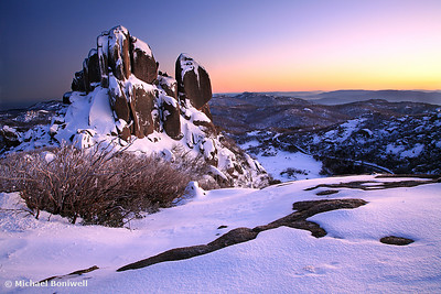 Winter Dawn, The Cathedral, Mt Buffalo, Victoria, Australia