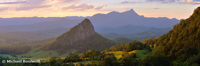 Doughboy Hill and Mt Warning, New South Wales, Australia