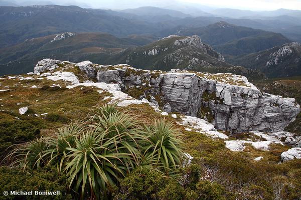 View from Frenchmans Cap, Franklin-Gordon Wild Rivers National Park, Tasmania