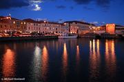 Moonlit Hobart Port, Tasmania, Australia
