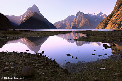 Milford Sound Sunset, South Island, New Zealand