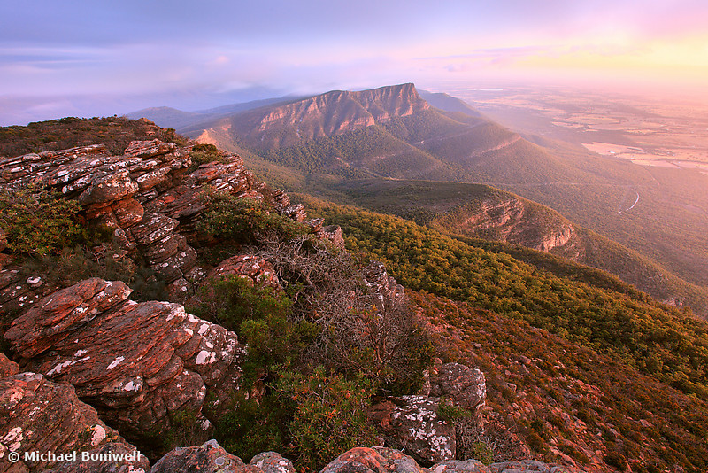 Redman Bluff from Mt William, Grampians, Victoria, Australia