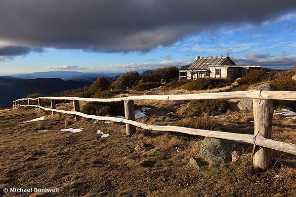 Craigs Hut, Winter Afternoon, Mt Stirling, Victoria, Australia