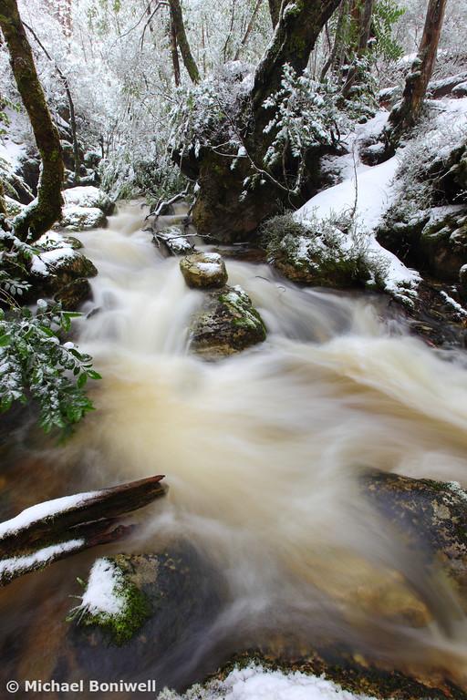 Winter at Crator Creek, Cradle Mountain National Park, Tasmania, Australia