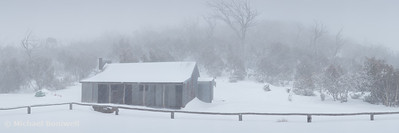 Snow Storm, Bluff Hut, Alpine National Park, Victoria, Australia