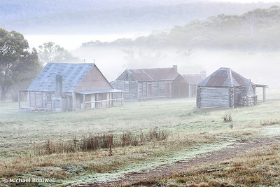 Coolamine Homestead Mist, Kosciuszko National Park, New South Wales, Australia
