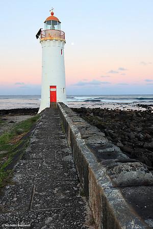 Moonrise, Port Fairy Lighthouse, Victoria, Australia