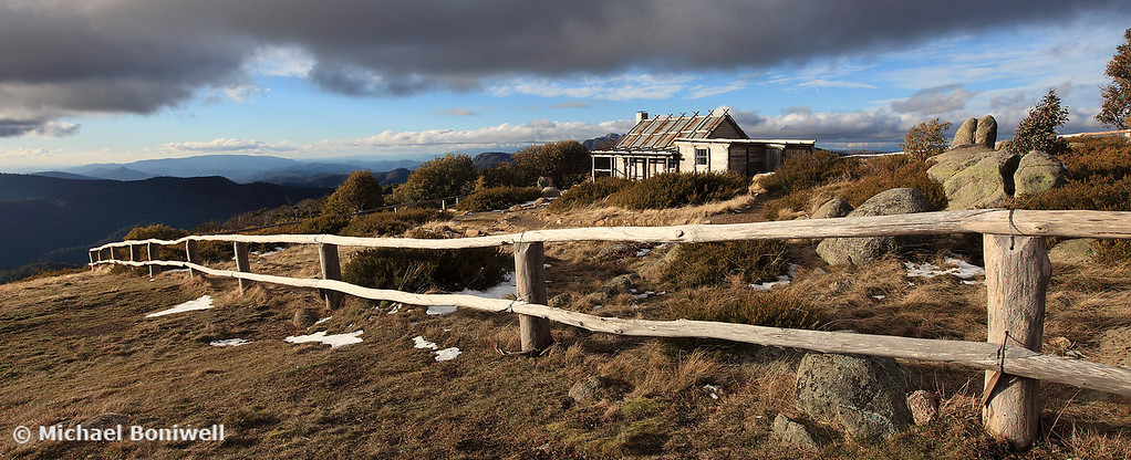 Craigs Hut Winter Afternoon, Mt Stirling, Victoria, Australia
