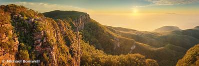 Mt William from Mitchell Plateau, Grampians, Victoria, Australia