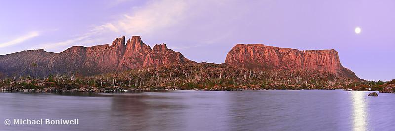 Labyrinth Moonrise, Lake St Clair National Park, Tasmania, Australia