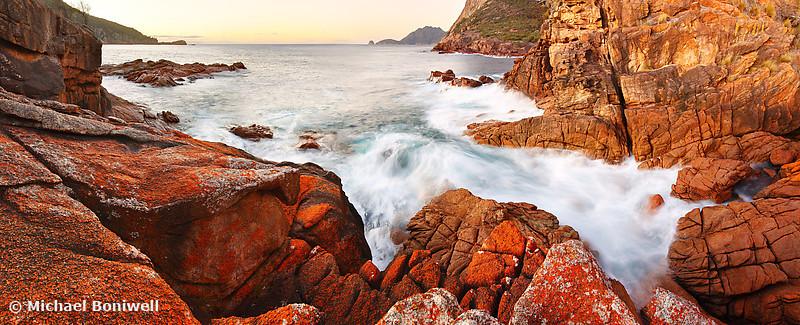 Sleepy Bay Sunrise, Freycinet National Park, Tasmania, Australia