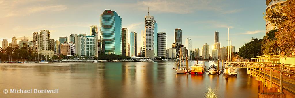 Brisbane from Kangaroo Point, Queensland, Australia