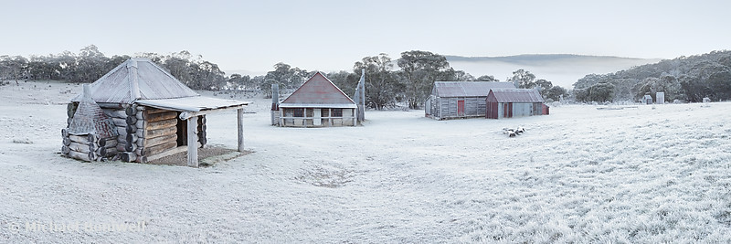 Frosty Coolamine Homestead, Kosciuszko National Park, New South Wales, Australia