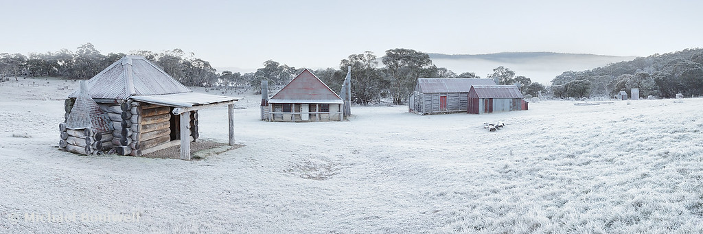 Frosty Coolamine Homestead, Kosciuszko National Park, New South Wales, Australia
